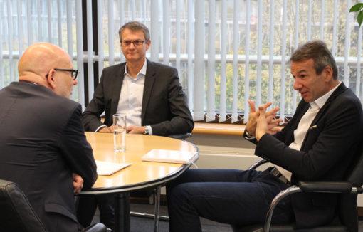 Detlef Zell und Michel Billon: Geschäftsführer der Hanseatic Bank.