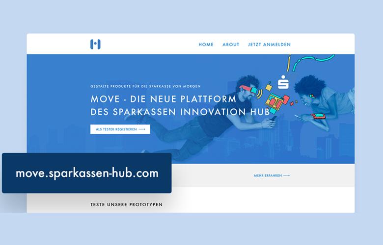 MOVE wurde im S-Hub entwickelt und ist die Tester-Plattform für Sparkassen-Kunden.