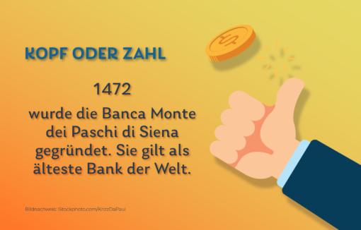 Grafik Kopf oder Zahl - Banca Monte dei Paschi