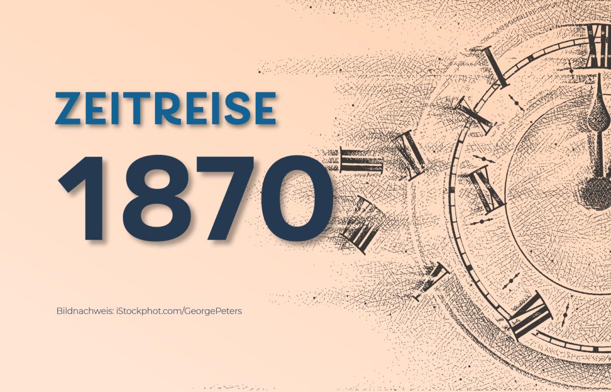 Grafik Zeitreise 1870 Gründung der Commerzbank
