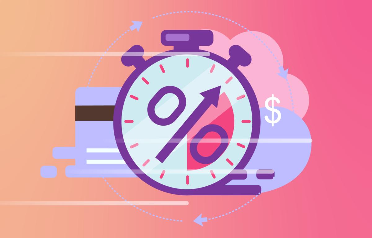 Eine Uhr als Symbol für Zahlungen in Echtzeit