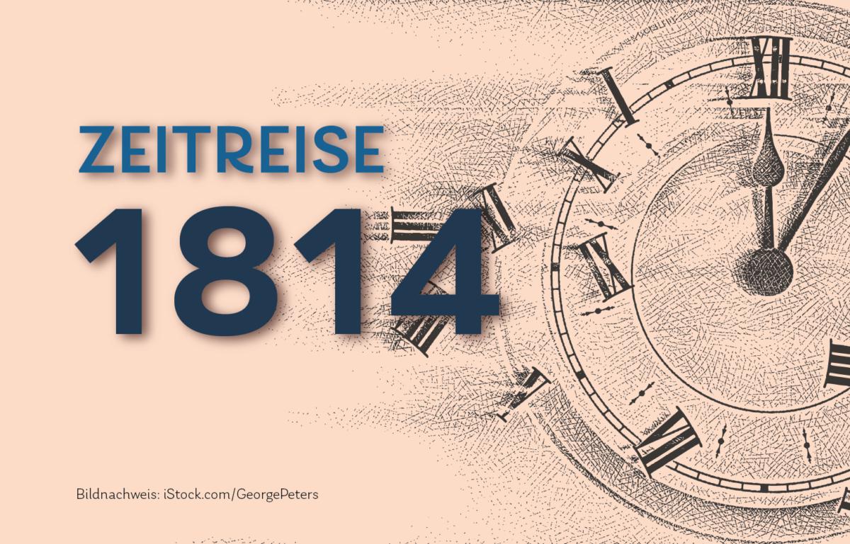 Grafik Zeitreise 1814 Gründung der Niederländischen Bank