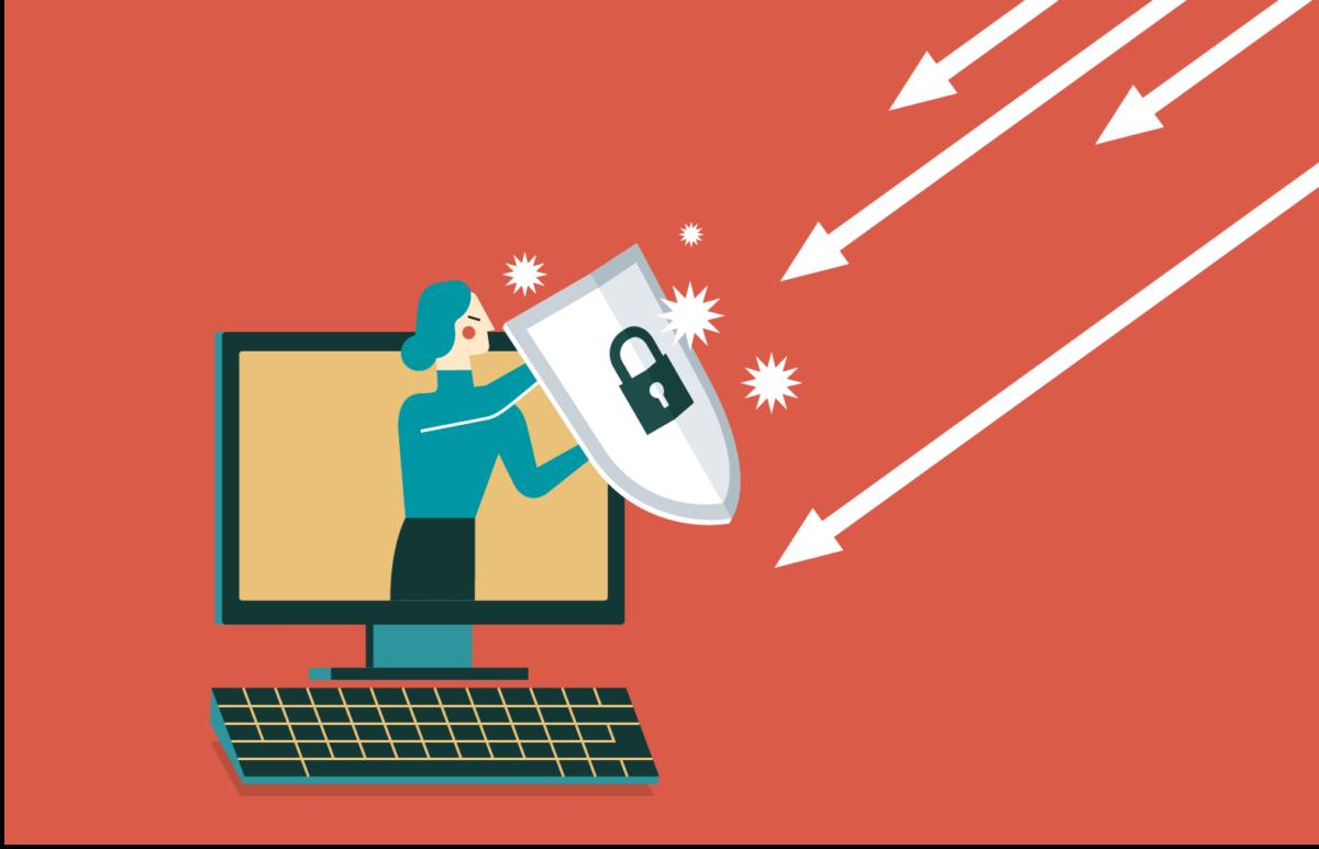 Wie kann ein Unternehmen sich effektiv gegen DDoS-Attacken schützen? Grafik zum Beitrag