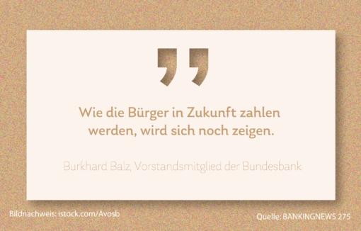 Grafik Kassensturz Burkhard Balz von der Bundesbank über das Bezahlverhalten der Zukunft