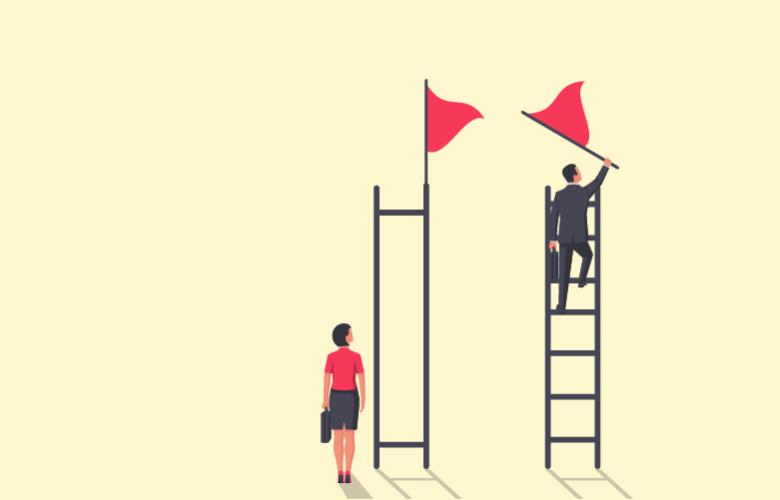 Frauen steigen die Karriereleiter oftmals nicht bis ganz nach oben auf, besonders in der Finanzbranche.