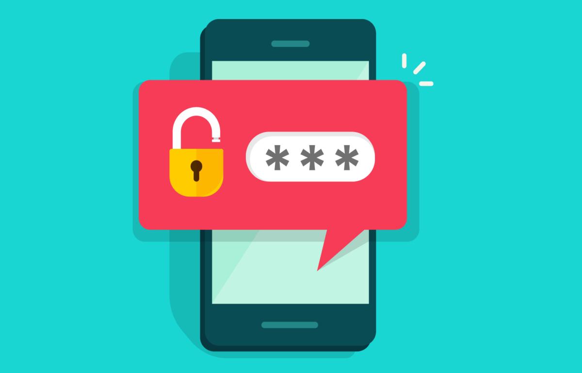 Passwort zur Anmeldung erforderlich auf Handy, Beitragsbild zum Daily zum Welt-Passwort-Tag