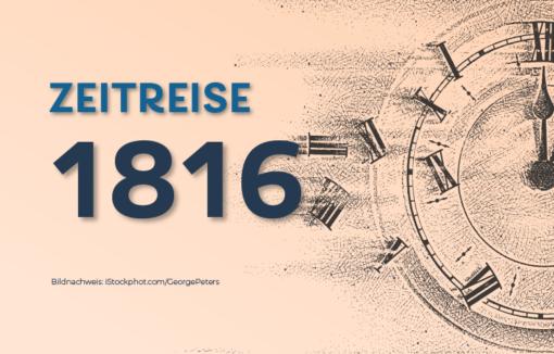 1816 wird die Oesterreichische Nationalbank gegründet.