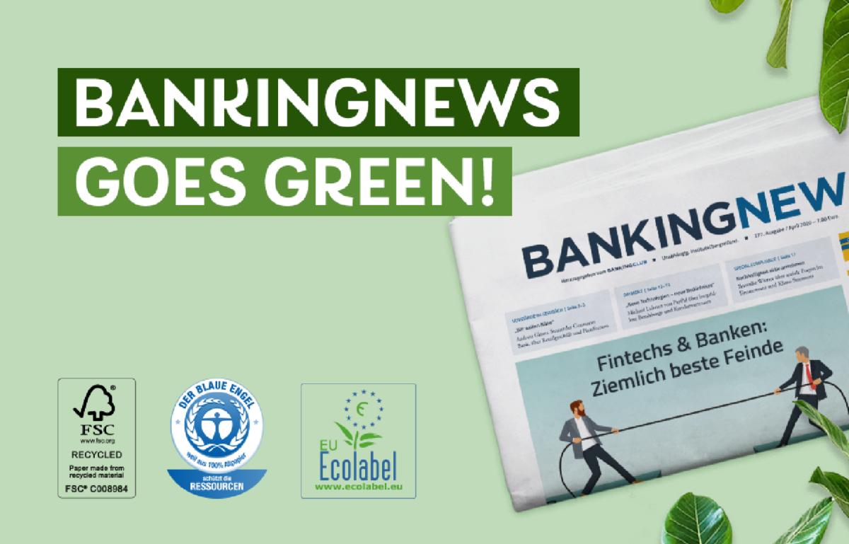 Die BANKINGNEWS wird grün.