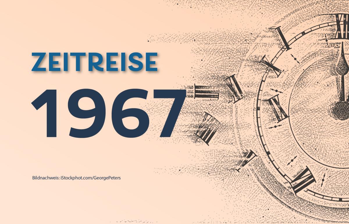 Geldautomaten sind heute alltäglich. Zeitreise ins Jahr 1967. Hier wurde der erste Geldautomat der Welt in Betrieb genommen