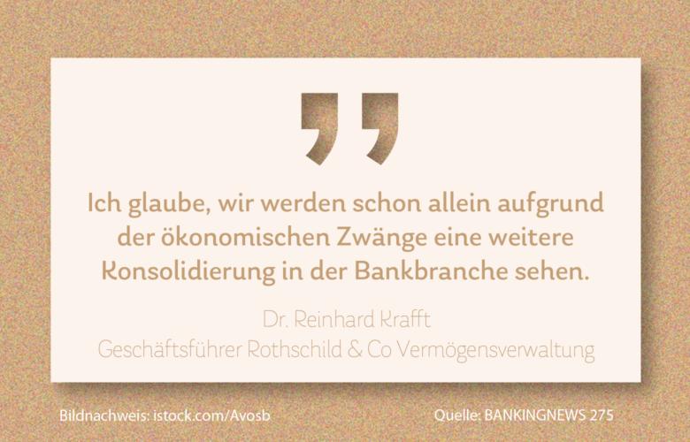 Dr. Reinhard Krafft, Geschäftsführer Rothschild & Co Vermögensverwaltung sprach im Interview über Konsolidierung in der Bankbranche. Jetzt im #Kassensturz.