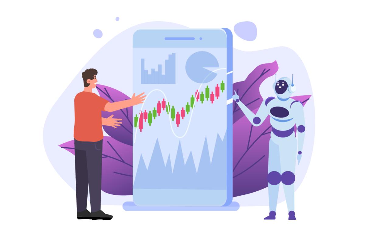 Mensch und Roboter im Beratungsgespräch, Robo AdvisorRobo Advisory Experience, aber bitte persönlich