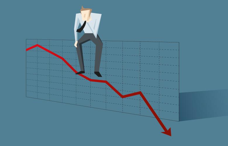 Börse und Psychologie, undurchsichtig, Kurse, Mann wundert sich über Markt