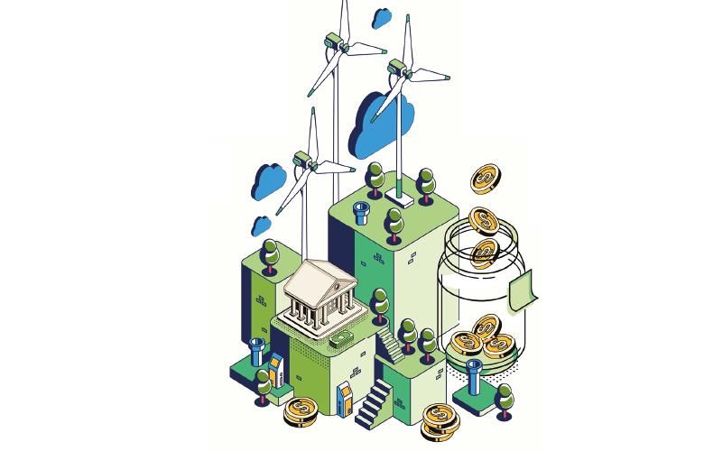 Grün Sozial Gerecht Infografik Nachhaltigkeit