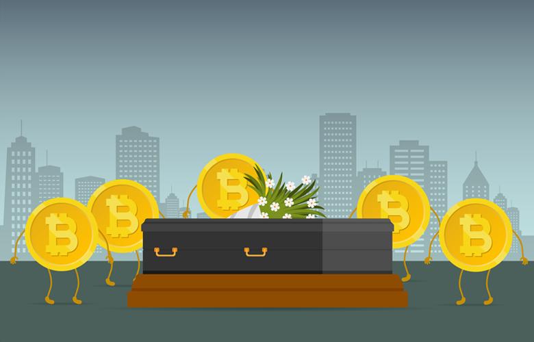 Kryptowährung-Sterben: Erfolgreiche Bitcoin überlebt sie alle