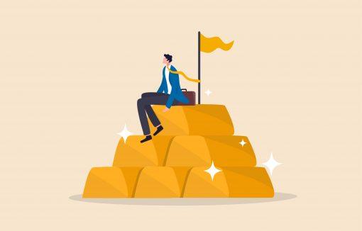 Geldvermögen-Bargeld-Aktien-Gold